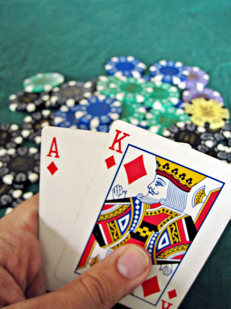 cartas ganadoras en 21 blackjack en vivo