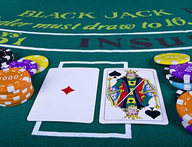 mesa de blackjack de casino