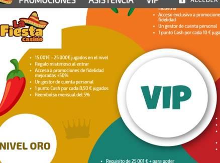 Programa VIP La Fiesta Casino