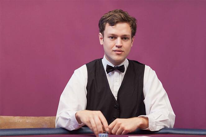 crupier en directo en casinos en vivo