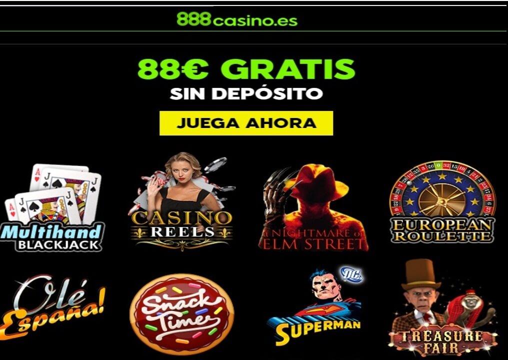 Bonos sin depósito Casino 888