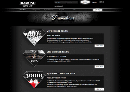 diamond club vip promociones