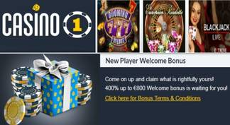 Casino 1 Bono de Bienvenida
