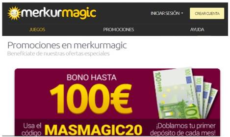 Merkurmagic casino entrega bono de 100 euros