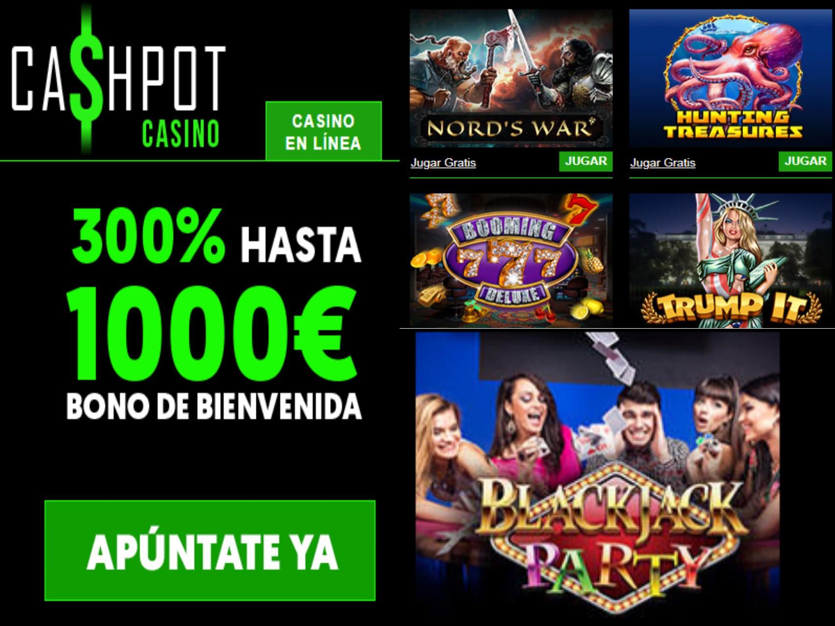 1000 euros de bienvenida Cashpot Casino