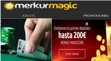 Hasta 200 euros en Merkurmagic por primer depósito