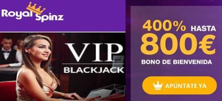 Hasta 800 euros y 25 juegos gratis en Casino RoyalSpinz
