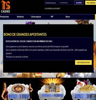 Bono de 25% por primer depósito Casino Times Square