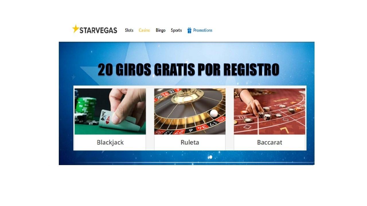 20 tiradas gratis Casino Starvegas