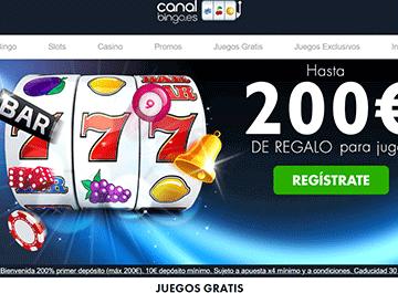 Canal bingo bono bienvenida