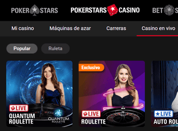 Pokertstars casino en vivo
